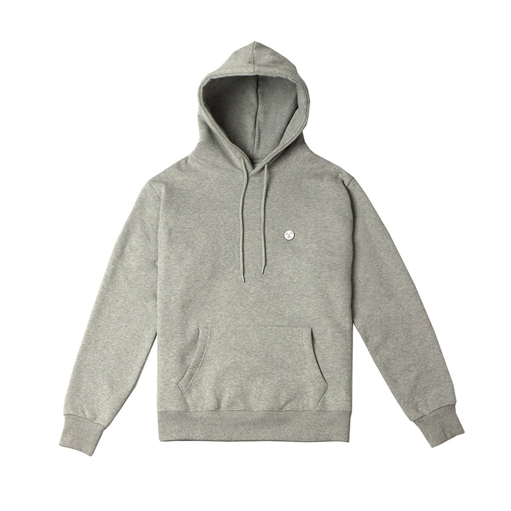 Stereo Vinyls NOUNOU Unisex Back Face Fleece Hoodies Melange Grey-KR-HALLYU MART
