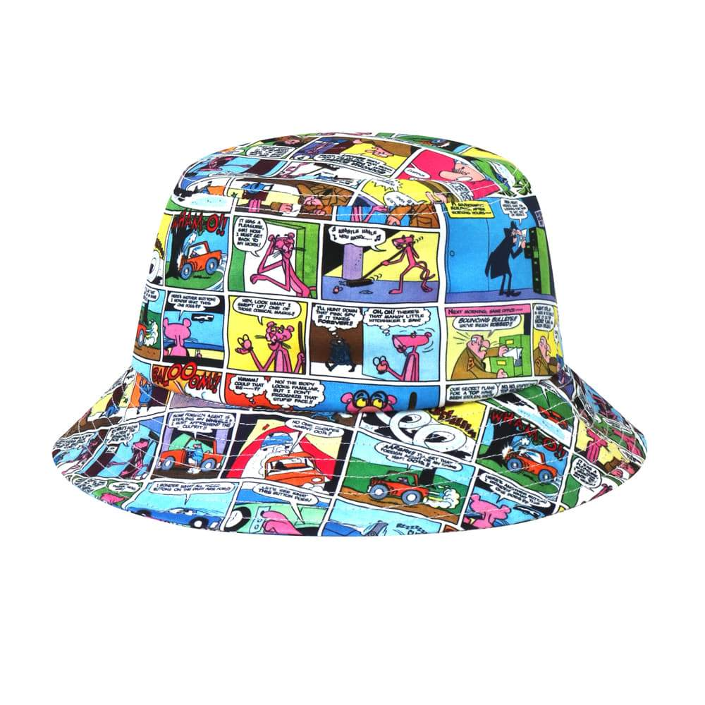 Stereo Vinyls S/S 19 Pink Panther Comics Bucket Hats Blue SVHT9A403BL-Stereo Vinyls-HALLYU MART