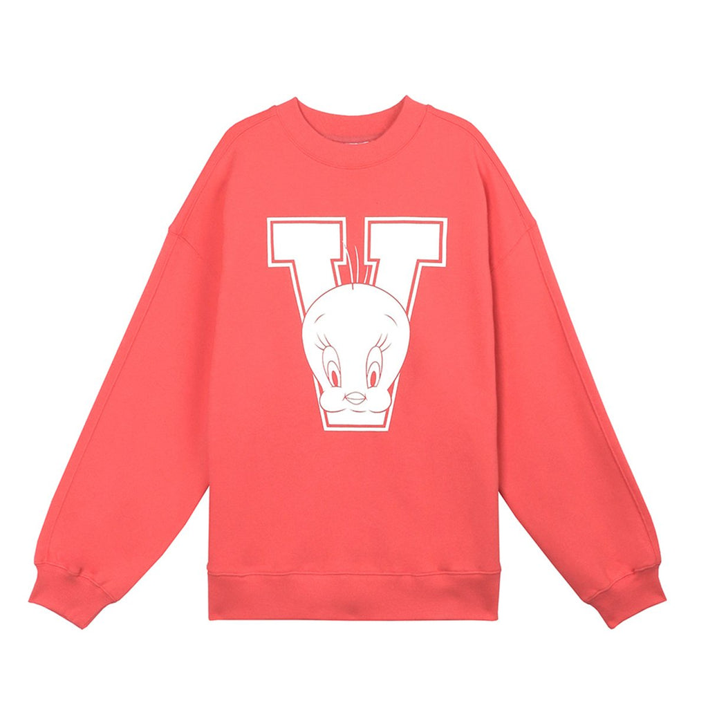 Stereo Vinyls x Looney Tunes 19S/S Unisex Classic Sweater T-shirts Coral-KR-HALLYU MART