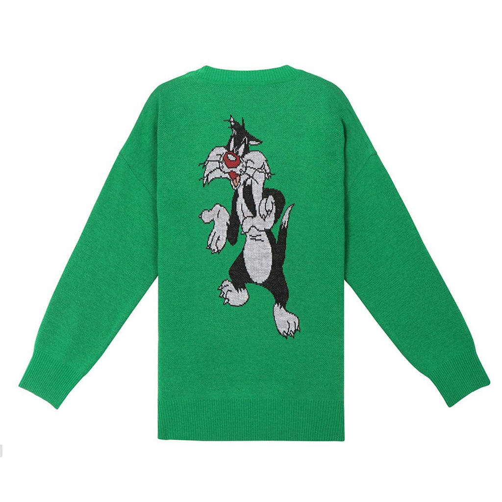 Stereo Vinyls x Looney Tunes 19S/S Unisex Jacquard Knit T-shirts Green-KR-HALLYU MART