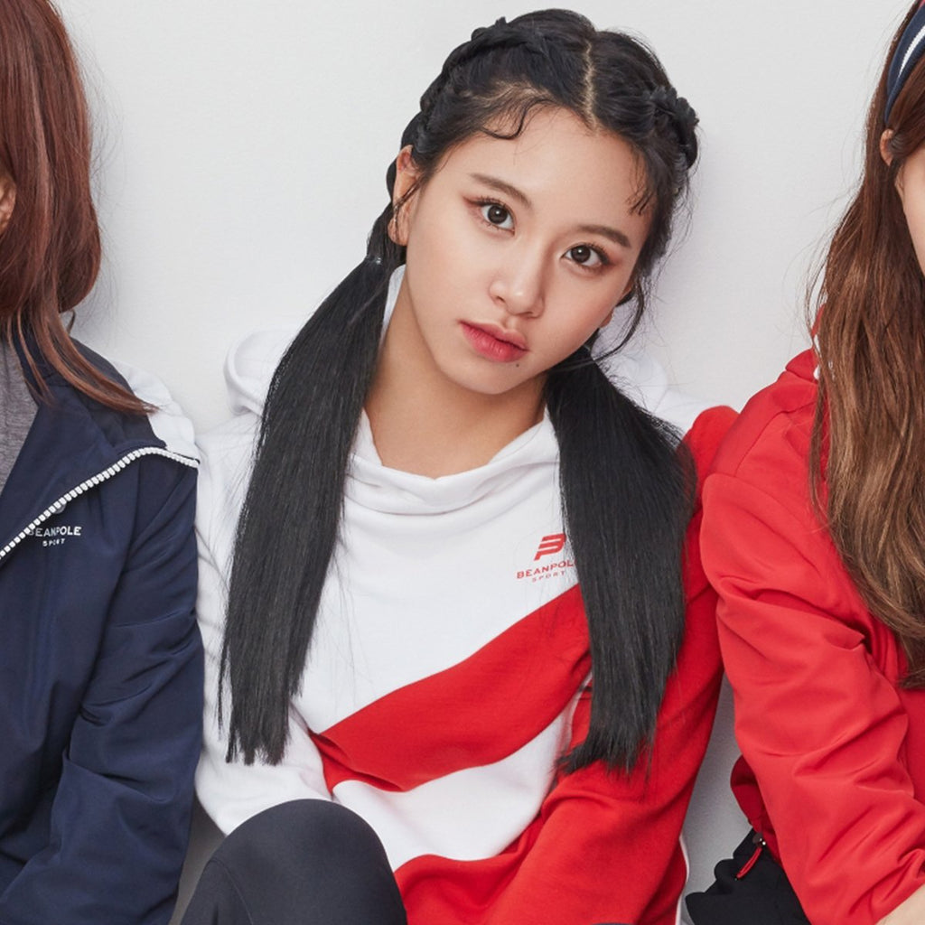 TWICE Beanpole Sport 18FW Red Women's Color Blocked T-shirts-KR-HALLYU MART
