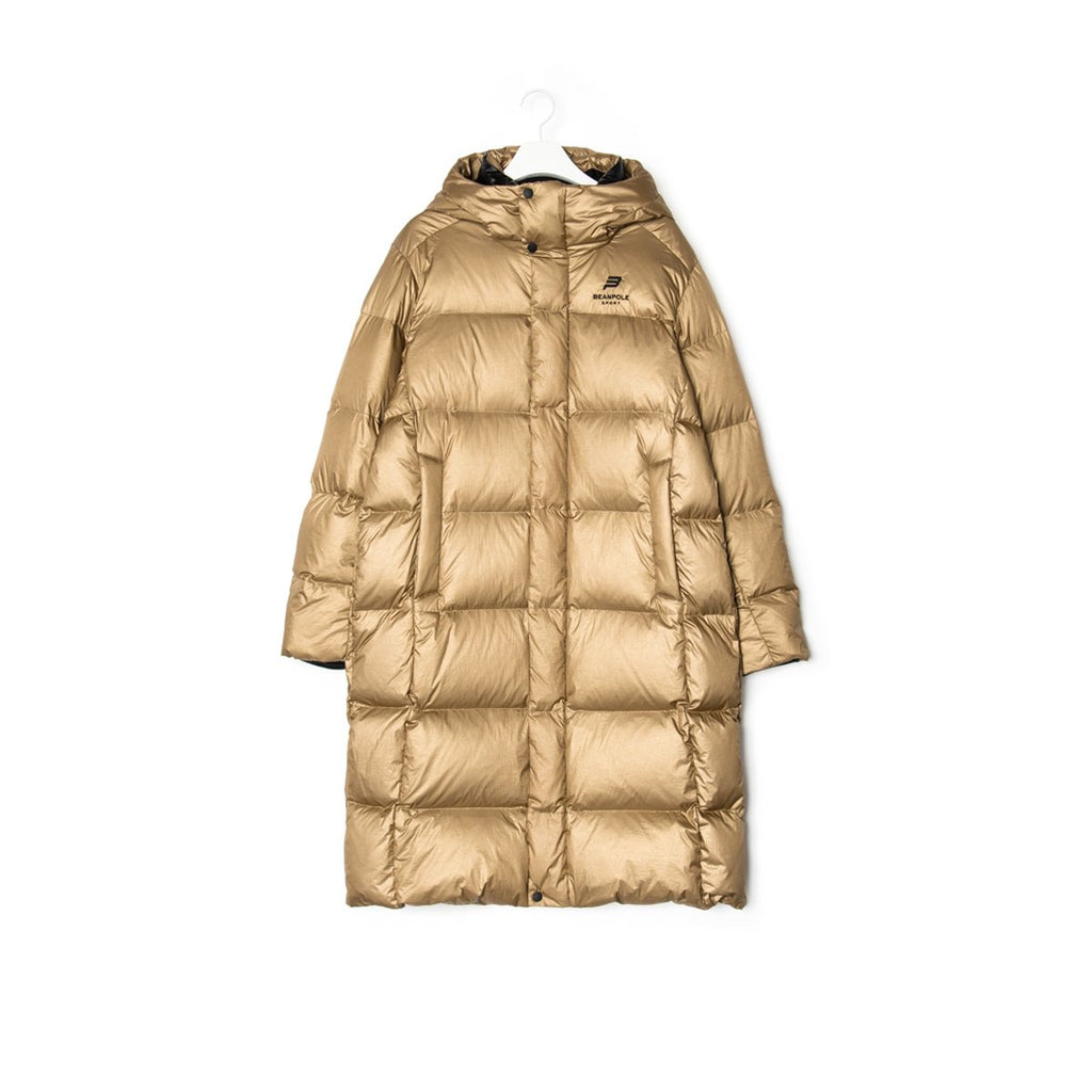 TWICE Beanpole Sport 18FW Unisex Gold&Silver B.Bench Duck Down Bench Down Long Padding Jackets-KR-HALLYU MART
