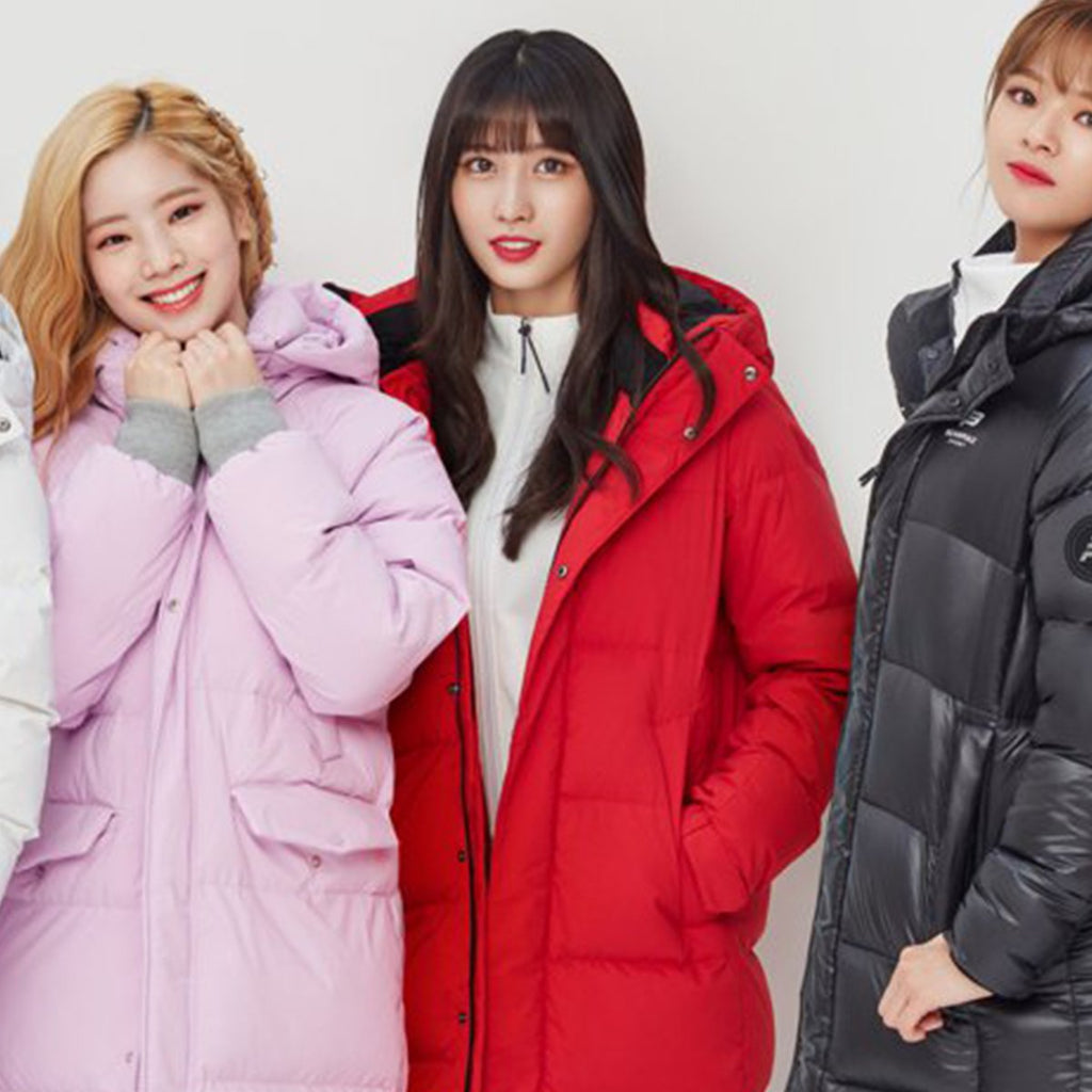 TWICE Beanpole Sport 18FW Unisex Red B.Bench Duck Down Bench Down Long Padding Jackets-KR-HALLYU MART
