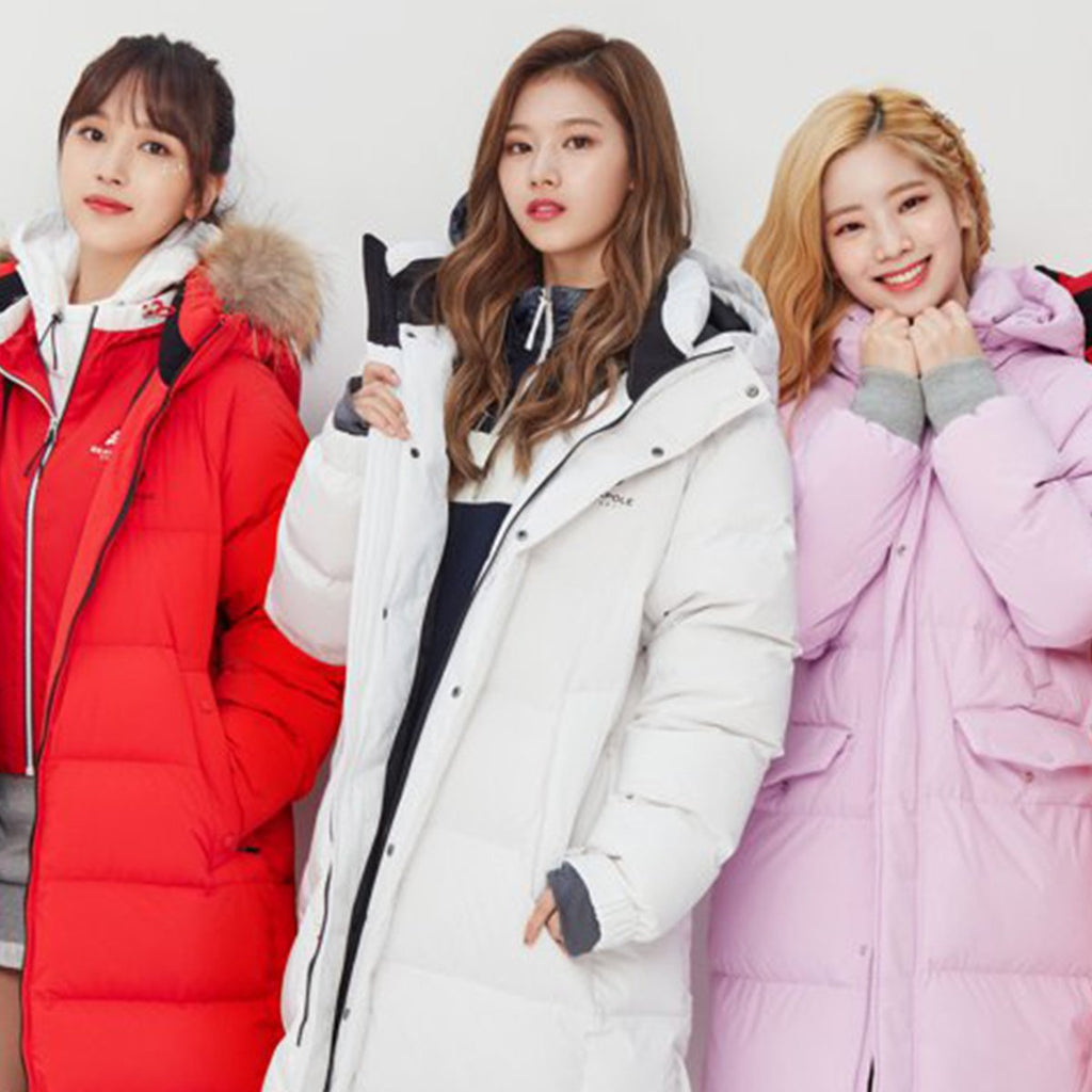 TWICE Beanpole Sport 18FW Unisex White B.Bench Duck down Bench Down Long Padding Jackets-KR-HALLYU MART