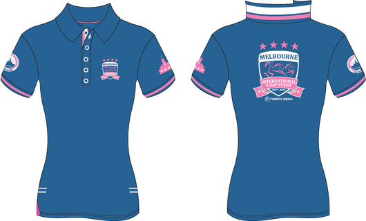 2019 MI3DE  Mid Blue Pink Polo Shirt