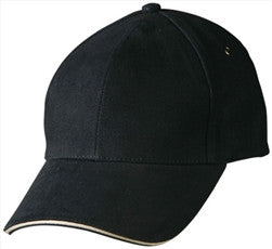 Cotton Twill Cap with contrast sandwich peak