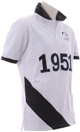 White Navy Polo - Kids