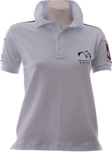 EA White Navy Shoulder Polo - Womens