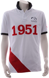 EA White Red Polo - Mens