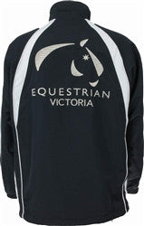 Equestrian Victoria Children's Splice Panel Sports Jacket - Navy/White
