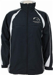 Equestrian Victoria Unisex Splice Panel Sports Jacket - Navy/White