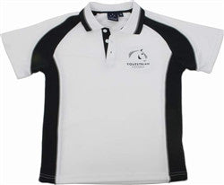 Equestrian Victoria Children's Contrast Polo Shirt - White/Navy