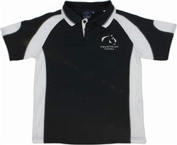 Equestrian Victoria Children's Contrast Panel Polo Shirt - Navy/White