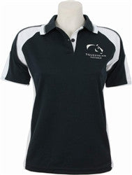 Equestrian Victoria Women's Contrast Panel Polo Shirt - Navy/White