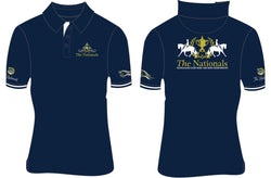 2019 Show Horse Nationals Navy Gold Rib Knit Collar Polo
