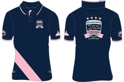 2019 MI3DE  Navy Pink Stripe Polo Shirt
