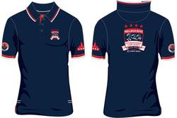 2019 MI3DE  Marine Blue Red Polo Shirt