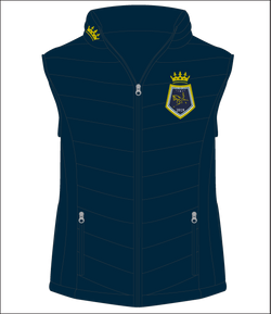Show Horse Nationals Navy Gold Padded Vest