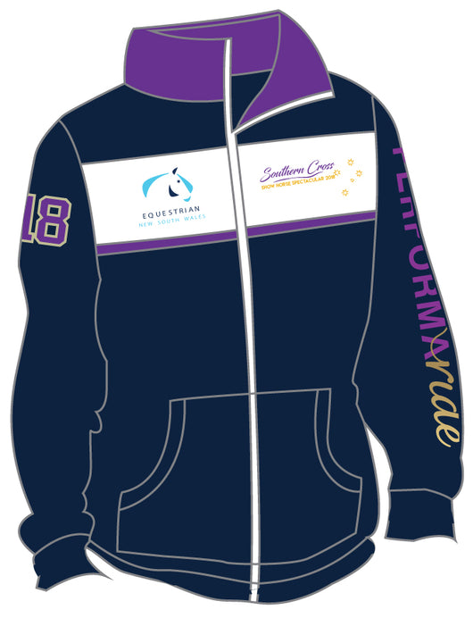 Navy/Purple White Stripe Fleece Jacket