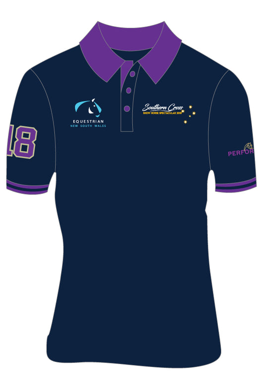 Navy/Purple Polo