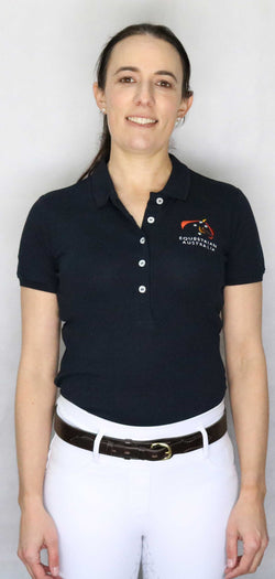 Equestrian Australia Cotton Lycra Polo Shirt