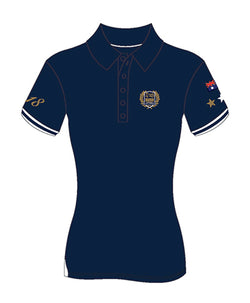 MI3DE Women's Navy Gold Polo Shirt