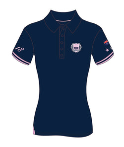 MI3DE Women's Navy Pink Polo Shirt