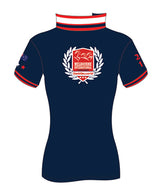 MI3DE Women's Navy Red Sash Polo Shirt
