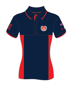 MI3DE Navy Red Side Panel Polo Shirt