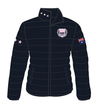 MI3DE Women's Padded Jacket Navy Pink