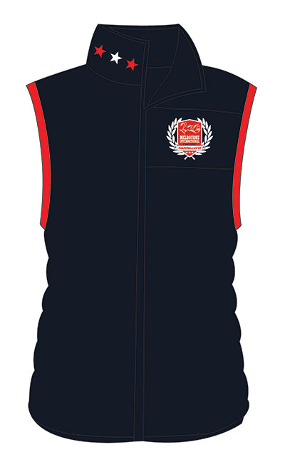 Show Horse Nationals Red Navy Padded Vest