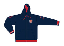 MI3DE Fleece Zip Hoodie Navy Red