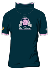 Show Horse Nationals Navy Pink Polo