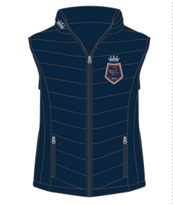 Show Horse Nationals Navy Orange Padded Vest