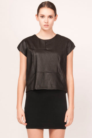 Arliss Vegan Leather Top