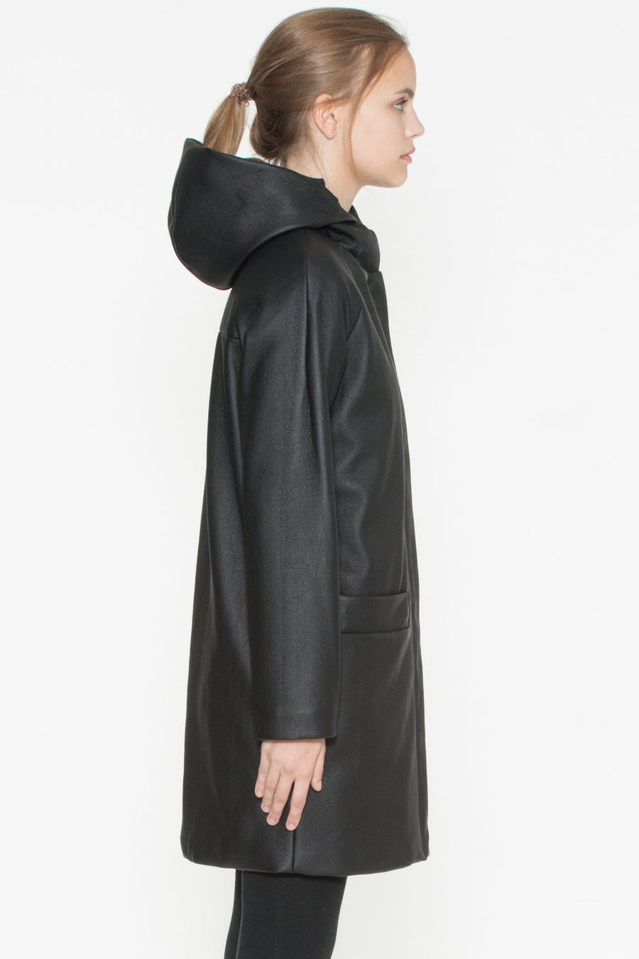 Paden Vegan Leather Coat