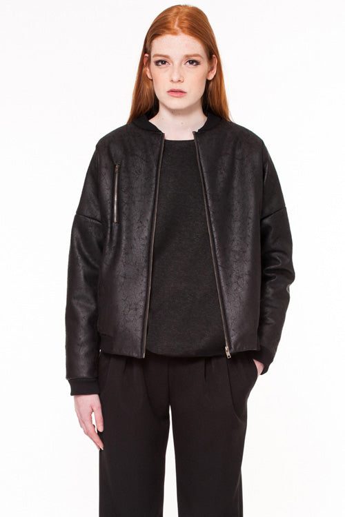 Raven Vegan Leather Jacket