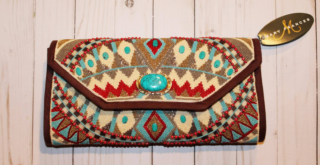 Turquoise Power Clutch