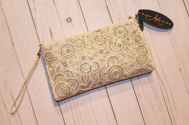 White Knight Embellished Handbag