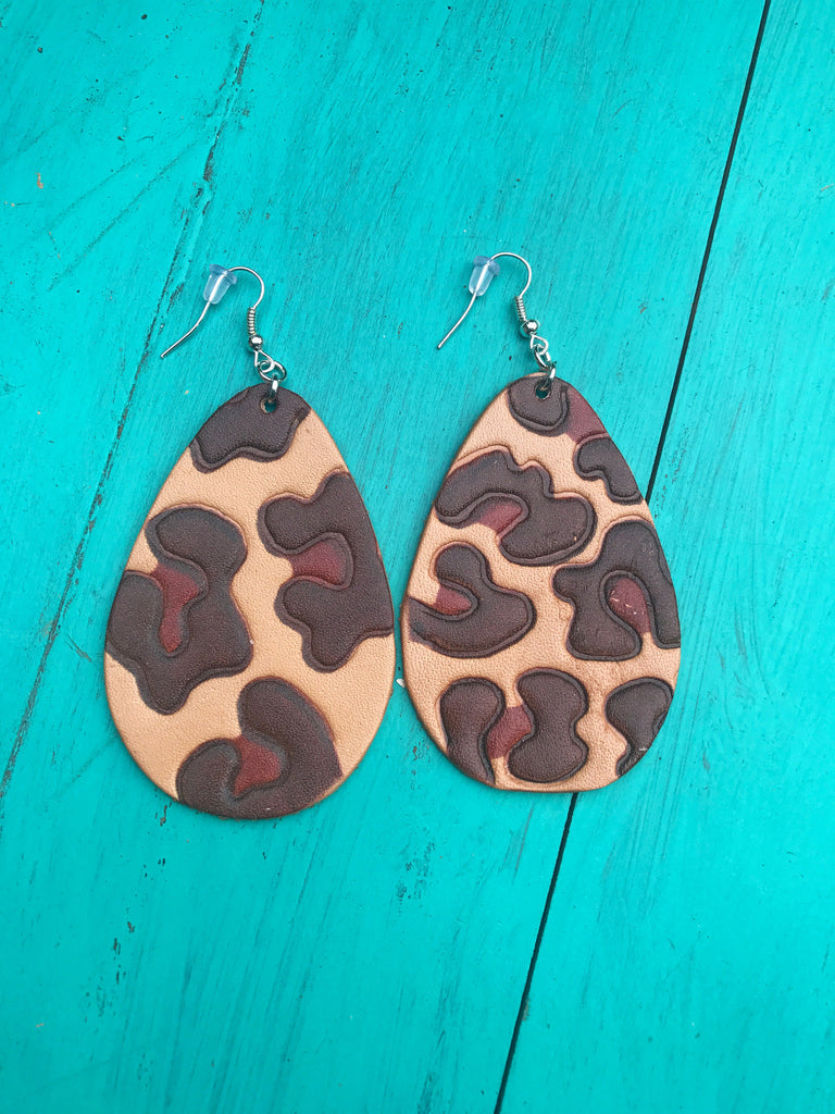 Leopard Dyed Earrings