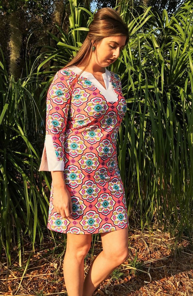 Mayan Medallion Prescot Lane Tunic Dress