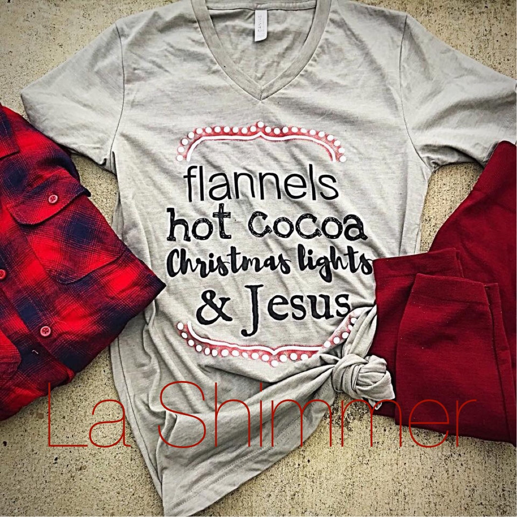 Flannels and Christmas Lights Tee