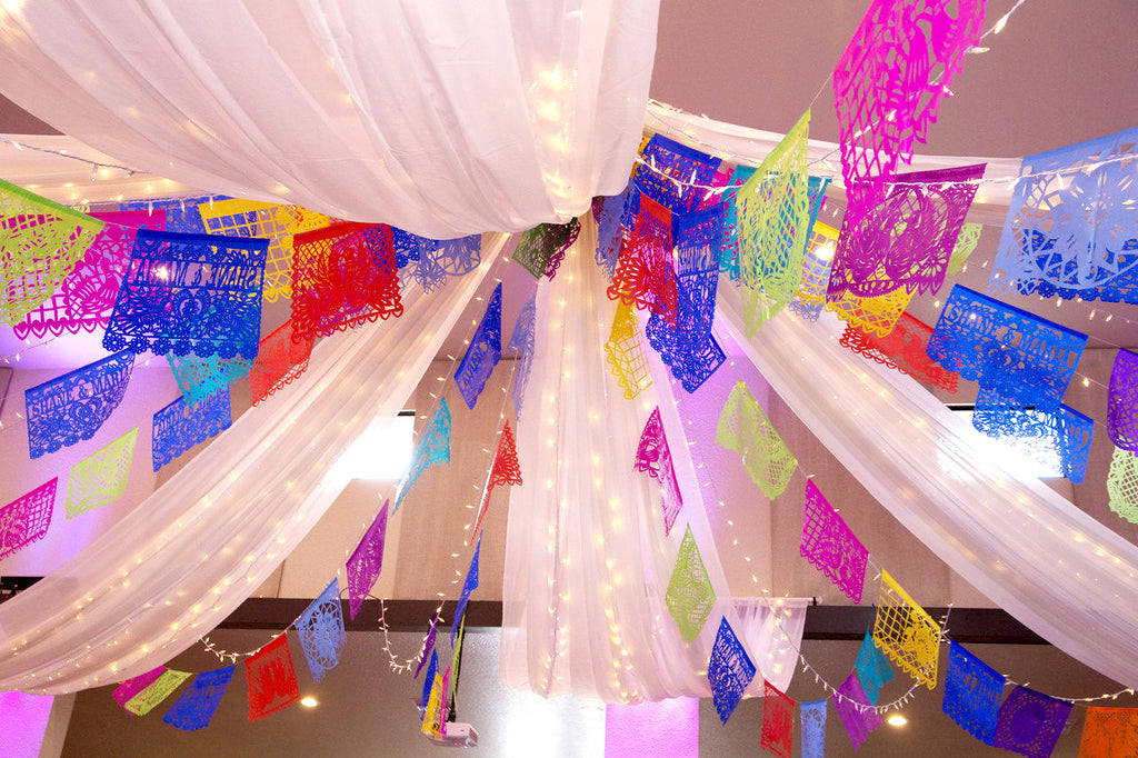 A Colourful Mexican Wedding Fiesta Featuring Our Personalised Papel Picado