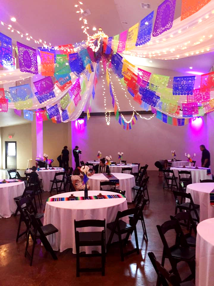 Colourful Personalised Wedding Papel Picado for Shane & Maria by ARTMEXICO