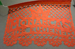 custom corporate papel picado event decorations Monarcas de Eugene by ARTMEXICO