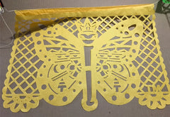 custom corporate papel picado event decorations butterfly by ARTMEXICO