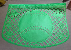 custom corporate papel picado event decorations baseball by ARTMEXICO