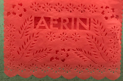 custom papel picado for AERIN perfume
