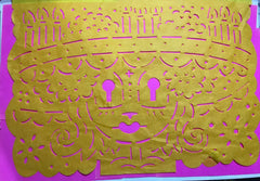 custom papel picado bunting decorations Son of Jaguar film by www.ARTMEXICO.co.uk
