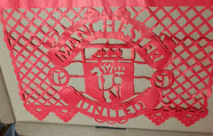 custom corporate papel picado event decorations Man United by ARTMEXICO